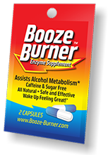 Booze Burner 3-packets.