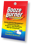 Booze Burner anti-hangover packet. Your solution to being able to drink, with no morning headaches.